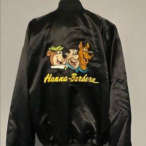Rare Hanna Barbers black,  large, satin, jacket